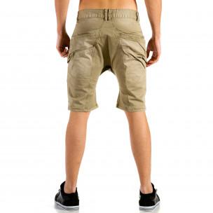 Мъжки бежови къси панталони тип потури X-three 2