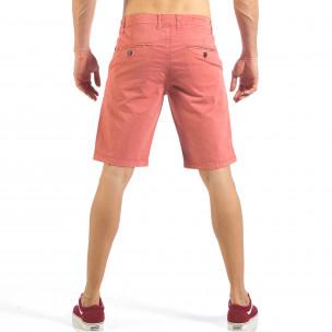 Мъжки розови къси панталони с италиански джобове  2