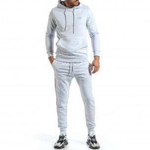 Basic мъжки сив спортен комплект от памук Clang