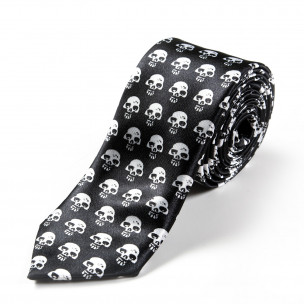 Вратовръзка slim fit с малки черепи 2