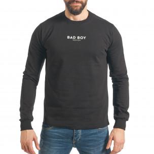 Мъжки черен суичър с  надпис Bad Boy