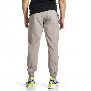 Мъжки шушляков панталон Jogger в сиво  2