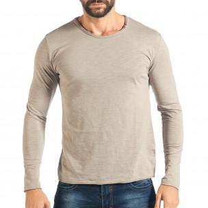 Мъжка сива блуза изчистен модел