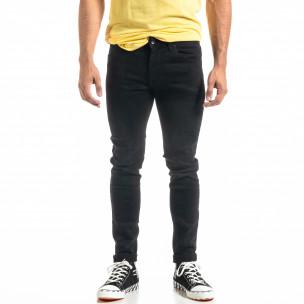 Slim fit Basic мъжки черни дънки Andrea Falco