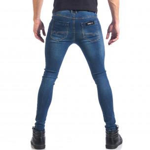 Мъжки дънки супер слим фит изчистен модел  2