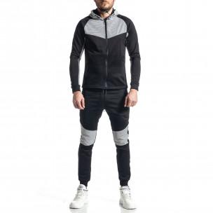 Мъжки черно-бял анцуг Biker style