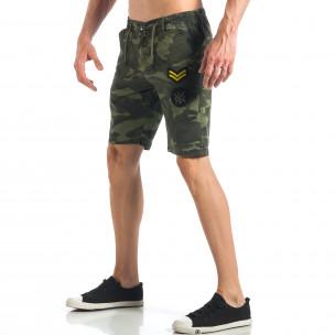 Мъжки камуфлажни къси панталони с емблеми   2