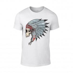 Мъжка бяла тениска Indian