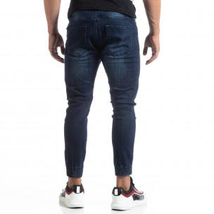 Мъжки сини джогър дънки Loose fit  2