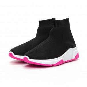 Черни дамски маратонки тип чорап Chunky подметка 2