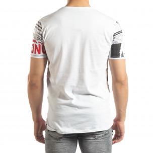 Мъжка тениска Exclusive News в бяло 2