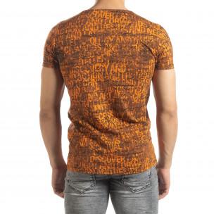 Vintage мъжка тениска в оранжево  2