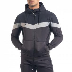 Biker мъжки спортен комплект в тъмно сиво 2