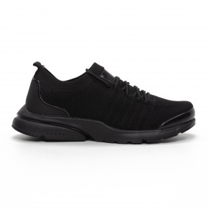 Леки мъжки маратонки тип чорап в черно Modern