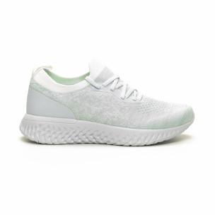 Ултралеки дамски бели маратонки тип чорап