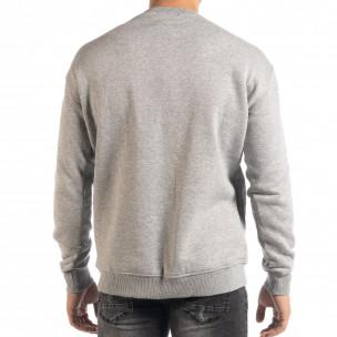 Ватирана блуза тип суичър в сиво  2