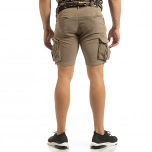 Slim fit къси карго панталони в бежово 2
