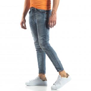 Washed Slim Jeans в сиво-синьо