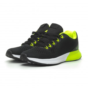 Ултралеки мъжки маратонки черно с неон  2
