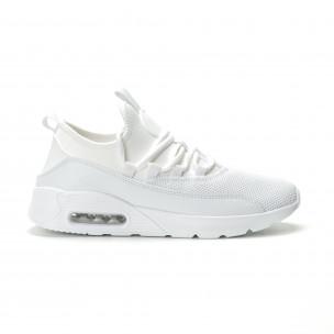 Леки мъжки Air маратонки комбинирани в бяло