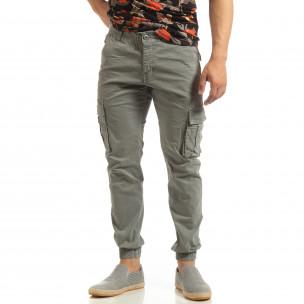 Мъжки карго джогър панталон в сиво 2