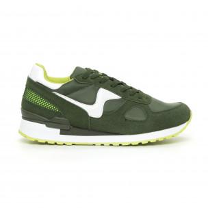 Комбинирани мъжки маратонки в зелени нюанси