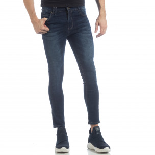 Мъжки класически Skinny Jeans в синьо