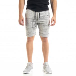 Мъжки трикотажни шорти сиво и черно