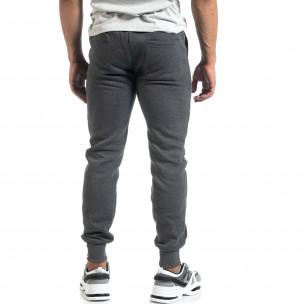 Мъжко сиво долнище с апликирани джобове  2