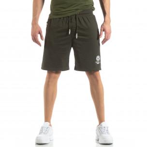 Мъжки спортни шорти в зелено  2