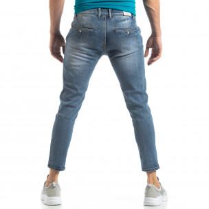 Сини мъжки дънки Carrot  2