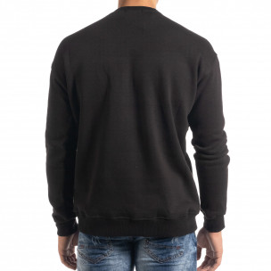 Ватирана блуза тип суичър в черно  2