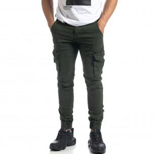 Мъжки Cargo Jogger панталон в цвят Olive  2