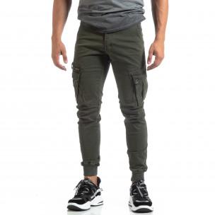 Мъжки зелен панталон Cargo Jogger   2