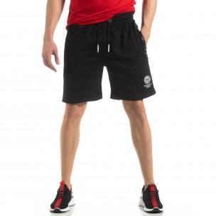 Мъжки спортни шорти в черно  2