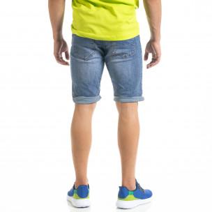 Basic мъжки сини къси дънки  2