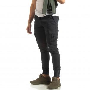 Мъжки син карго джогър с ципове на крачолите  2