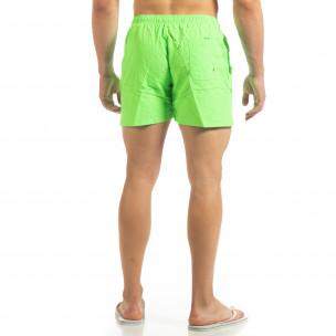 Basic мъжки бански в неоново зелено  2