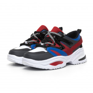 Синьо-червени мъжки маратонки Chunky дизайн 2