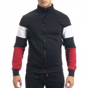 Черен ватиран мъжки спортен комплект Biker style 2