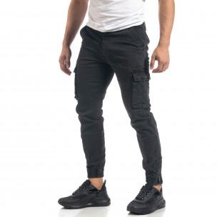 Сив мъжки карго панталон с ципове на крачолите  2