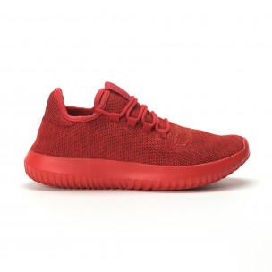 Мъжки олекотени червени маратонки All Red. Размер 43/45  2