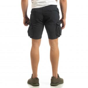 Slim fit къси карго панталони в синьо  2