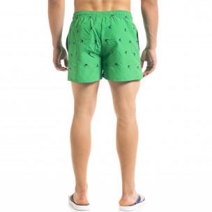 Зелен мъжки бански Swordfish мотив  2