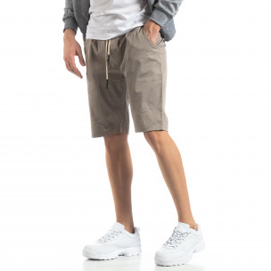 Basic мъжки къси панталони в сиво  2