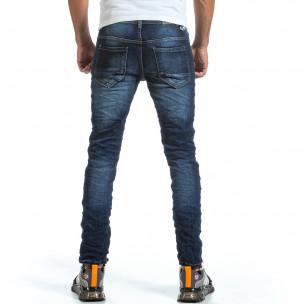 Мъжки намачкани сини дънки  2