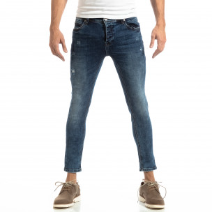 Slim fit мъжки дънки в синьо