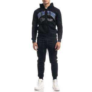 Мъжки черен спортен комплект New York Sport