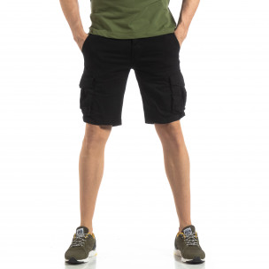 Мъжки карго бермуди в черно