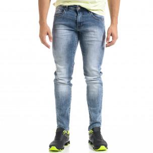 Slim fit мъжки сини дънки